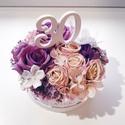 Kis szülinapi rózsás virág doboz +felirat, Gyönyörű selyemvirágból készült virágdoboz...