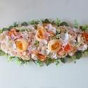 Nagy pasztell selyemvirág asztaldísz-rendelésre, Gyönyörű selyemvirágokból készült egyedi, m...