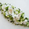 RENDELÉSRE - Selyemvirág asztaldísz zöld , Gyönyörű selyemvirágokból készült egyedi, m...