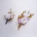 Vintage selyemvirág esküvői szett