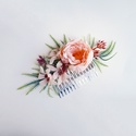 Púder virágos esküvői hajdísz