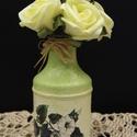 Kisvirágos mini váza, Dekoráció, Otthon, lakberendezés, Asztaldísz, Kaspó, virágtartó, váza, korsó, cserép, Kisvirágos mini váza  A nyár hangulatát idézi a finom tónusú virágos váza, mely méltó dí..., Meska