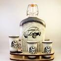 VOLKSWAGEN pálinkás pohárszett - VWBOGÁR ; Saját Volkswagen autód fényképével is!, VOLKSWAGEN pálinkás pohárszett - VW BOGÁR ( 0,...