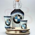 BMW italosszett BMW rajongóknak, BMW italosszett ( 0,2 üveg+ 2 x 45 ml pohár + fa...