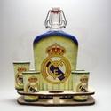 Real Madrid pálinkás kínáló ; Real foci szurkolóknak, Real Madrid pálinkás kínáló ( 0,5l + 6 x 45ml...