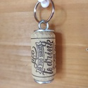 """Parafa kulcstartó, Otthon & Lakás, Dekoráció, Mindenmás, Parafa dugóból készült egyedi kulcstartó """"Az élet túl rövid, hogy rossz bort igyál"""" felirattal.  Eg..., Meska"""