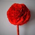 Piros virággömb, Karácsonyi, adventi apróságok, Karácsonyfadísz, Karácsonyi dekoráció, Papírművészet,  Ez a virág örökre emlékeztetni fogja kedvesedet mennyire fontos vagy a számára hisz sose hervad el..., Meska