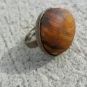 Égerfa gyűrű, 25mm-es tányéros ,antik bronz ,nikkelmentes gyű...