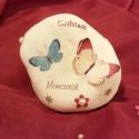 Pillangós-virágos kő szülinapra, Dekoráció, Otthon, lakberendezés, Képzőművészet, Fotográfia, Decoupage, szalvétatechnika, Fotó, grafika, rajz, illusztráció, Ezt a pillangós követ szülinapi ajándékként álmodtam meg és készítettem el hugicám kolléganőjének. ..., Meska