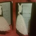 Dombornyomott csodaság 5., Esküvő, Meghívó, ültetőkártya, köszönőajándék, Ez a meghívó a menyasszonyt és a vőlegényt eleveníti meg, ötletes és elegáns. A menyasszonyi ruhát d..., Meska