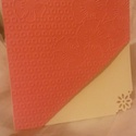 Dombornyomott csodaság 9., Esküvő, Ezt a meghívót a papír színe és a minta egyedisége teszi különlegessé. Mérete: 14.5*14.5 c..., Meska