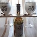 DeJó boros szett, Mindenmás, Ez  a boros szett születésnapra készült.Az üvegre körbe gyermekkori és aktuális fotók kerültek, a po..., Meska