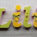 Dekorbetű lányoknak színes, Dekoráció, Baba-mama-gyerek, Gyerekszoba, Baba falikép, Textillel díszített polisztirol habbetűk írott vagy nyomtatott formában, egyedi igény szerint ..., Meska