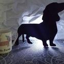 Kicsi Tacsi Tacskó formájú dekor lámpa, Otthon, lakberendezés, Lámpa, Famegmunkálás, Festett tárgyak, Az igazi tacsi - tacskó fanatikusok szeretik lakásukat tacskós dekorációkkal, tacskós használati tá..., Meska
