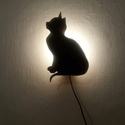 Kölyökcica dekor lámpa, Otthon, lakberendezés, Lámpa, Hangulatlámpa,  Egy idő múltán minden lakás tükrözi a lakói egyéniségét. A macskák szerelmeseinek ideál..., Meska