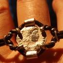 Imperium_Ezüst római érme karkötő , Férfiaknak, Ékszer, óra, Óra, ékszer, kiegészítő, Karkötő, A karkötő 925-ös ezüstből készült. Eredeti római érme alapján öntött pénzérme és 1, 0..., Meska