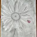 Margareta, Képzőművészet, Grafika, Rajz, Fotó, grafika, rajz, illusztráció, Grafit rajz, A4 es papiron. Azoknak ajanlom akik szeretik a margaretat, mely egyik kedvenc viragom,..., Meska