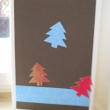 Karácsonyi képeslap, Karácsonyi, adventi apróságok, Ajándékkísérő, képeslap, Karácsonyi képeslap, szabvány kis borítékban küldhető (mérete 15 x 10.5 cm). Az alapja vajszínű kart..., Meska