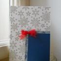 (Karácsonyi) képeslap, Karácsonyi, adventi apróságok, Ajándékkísérő, képeslap, Karácsonyi képeslap, de más alkalomra is megfelel, szabvány kis borítékban küldhető (mérete 15 x 10...., Meska