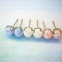 Kék, fehér,rózsaszín hegyikristály bedugós fülbevaló szett, Vannak, akik csak a kicsi bedugós fülbevalókat ...