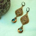 Isztambul - keleties bronz fülbevaló,   Valamikor réges-régen láttam az isztambuli ba...