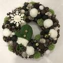 Karácsonyi kopogtató , Dekoráció, Otthon, lakberendezés, Dísz, Ajtódísz, kopogtató,  Az ajtódíszt a natúr termések és 1-2 színes kiegészítők,dekorok teszik gyönyörűvé.Az a..., Meska
