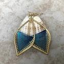 """Fonal fülbevaló - Ombre (élénk kék), Levél alakú fonal fülbevalóim """"ombre"""" változa..."""