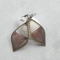 """Fonal fülbevaló - Ombre (barna), Levél alakú fonal fülbevalóim """"ombre"""" változa..."""