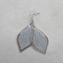 Fonal fülbevaló - Teli (ezüst), A fülbevaló rendelésre készült. Levél alakú...