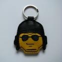 Lego rendőr bőr kulcstartók, Mindenmás, Férfiaknak, Kulcstartó,  Kézzel varrott, szabott bőr Lego rendőr fej kulcstartók. Limitált szériás, sorszámozott; a ..., Meska
