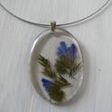 Romantikus kék virágos nyaklánc
