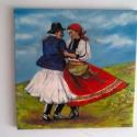 """"""" Ég és föld között """", Otthon & lakás, Képzőművészet, Festmény, Olajfestmény, Táncos lábakat,pörgős szoknyákat! Tánc a szabadban csodálatos, felszabadító érzés. A magyar néptánc ..., Meska"""