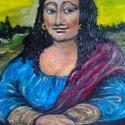 Roma Liza, Képzőművészet, Festmény, Olajfestmény, Festészet, Fa keretre feszített vásznon olajfestmény . 40 x 40 cm Keret nélkül is falra akasztható , Meska