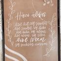 Nyomtatott Házi Áldás , Otthon & Lakás, Dekoráció, Felirat, Fotó, grafika, rajz, illusztráció, Digitálisan készült házi áldás kinyomtatott verzióban és képkeretben vagy anélkül díszítsék az otth..., Meska