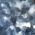 """""""Árnyalatok"""" olajfestmény, Képzőművészet, Festmény, Olajfestmény, Festészet, (30 x 30 cm)Absztrakt """"fekete-fehér"""" festményem olyan üzenetet rejt, ami egyéntől változó, hiszen m..., Meska"""