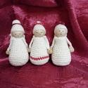 Karácsonyi horgolt angyalkák, Otthon & lakás, Karácsony, Dekoráció, Ünnepi dekoráció, KÉRLEK,  HOGY VÁSÁRLÁS ELŐTT BELSŐ ÜZENETBEN EGYEZTESSÜNK AZ ELKÉSZÍTÉS HATÁRIDEJÉRŐL!  Teljes egész..., Meska