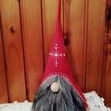 Skandináv karácsonyi manó, Otthon & lakás, Dekoráció, Ünnepi dekoráció, KÉRLEK,  HOGY VÁSÁRLÁS ELŐTT BELSŐ ÜZENETBEN EGYEZTESSÜNK AZ ELKÉSZÍTÉS HATÁRIDEJÉRŐL!  Színes filcb..., Meska