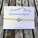 Színharmónia karkötő gyönggyel - Sárga, Válassz egyet magadnak a hét különböző szín...