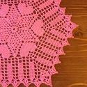 Rózsaszín horgolt terítő, Dekoráció, Otthon, lakberendezés, Asztaldísz, Lakástextil, Horgolás, 28-30 cm-es terítő, pamut horgoló fonalból. Igazi csajos! :), Meska