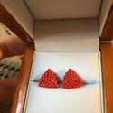 Peyote bedugós fülbevaló, Ékszer, Szerelmeseknek, Fülbevaló, Japán miyuki delica gyöngyből fűztem ezt a bedugós fülbevalót. Fényes piros színű. Mérete..., Meska