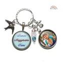 Személyes ajándék nagymamának, névre szóló fényképes kulcstartó, egyedi tervezés, család nagyi anya, gyöngy díszítés, Egyedi, névre szóló kulcstartó az általad ké...