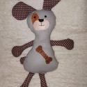 Morzsi kutya, Baba-mama-gyerek, Játék, Gyerekszoba, Baba játék, Puha pamut anyagból készült kedves kis kutyus figura. A pöttyös vagy csíkos anyag vidámmá é..., Meska