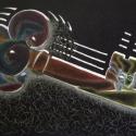 Kulcs, Képzőművészet, Otthon, lakberendezés, Grafika, Rajz, Fekete kartonra készült, zselés tollakkal, színescerkákkal. Mérete: 35x27 cm., Meska