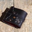 Tárca steampunk, pénztárca, Táska, Pénztárca, tok, tárca, Kinyitva 26x9,3 cm-es valódi bőr tárca. Kívül extra vastag bőr, steampunk stílusban díszítv..., Meska