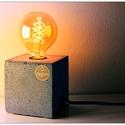 """Design beton asztali lámpa """"kocka"""", Otthon, lakberendezés, Lámpa, Asztali lámpa, Szobrászat, Design beton lámpa, színtiszta betonból. Egyedi elképzelés szerint választható a színe és a kábel s..., Meska"""