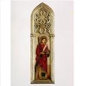 Szent Istvan,  az elso  szent, Képzőművészet, Festmény, Szobor, Festészet, Szobrászat, Ez az alkotas egy ugynevezett gotikus tablakep. Bizonyos Vincenzo Foppa muve alapjan keszult. Ez a ..., Meska