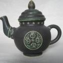 Tibeti teáskanna, Konyhafelszerelés, Otthon, lakberendezés, Bögre, csésze, Kancsó , Antikolt hatású, tibeti porcelán teáskanna, mely 5.2 dl űrtartalmú., Meska