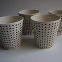 porcelán pohár, Konyhafelszerelés, Otthon, lakberendezés, Bögre, csésze, Porcelán 2 dl-es poharak különböző mintázattal. Darabja 3800 ft, négy darab vásárlásakor 3..., Meska