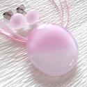 Hamvas rózsaszín, nyaklánc és stiftes fülbevaló , ajándék lányoknak, névnapra, születésnapra.