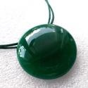 Smaragd medál, ajándék névnapra születés napra., Olvasztásos technikával készült egyszínű med...